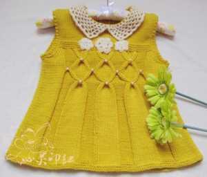 Yakalı örgü bebek elbisesi modeli yapılışı anlatımlı