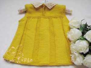 etekleri dilim dilim  örgü bebek elbisesi modeli yapılışı anlatımlı