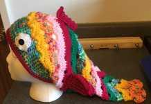 Balık figürlü örgü bere modeli