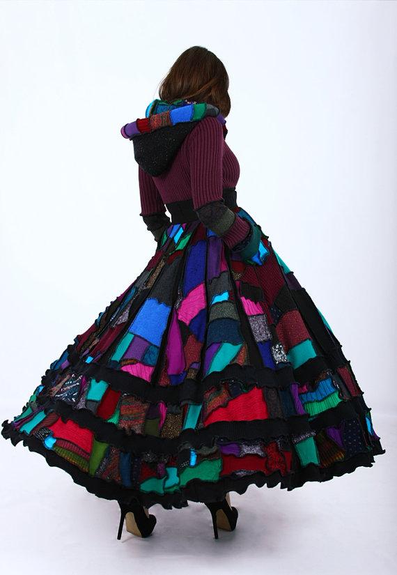 Patchwork örgü elbise modelleri