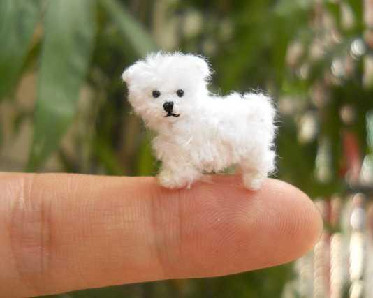 Minyatür örgü oyuncak köpek modelleri