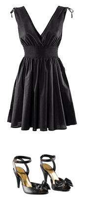 2011 Mezuniyet Elbisesi Modası - 2011 siyah diz üstü kiloş abiye modeli