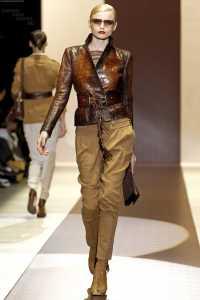 Gucci 2011 İlkbahar - Yaz Koleksiyonu - gucci deri ceket modelleri