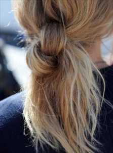 2011 Örgülü Saç Modası- Düğüm atılmış Zincir örgü saç modelleri