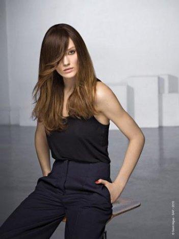 2011 'in Saç Kesim Modelleri ve Saç Renkleri - Yan perçemli uzun saç modelleri ve saç kesim modelleri