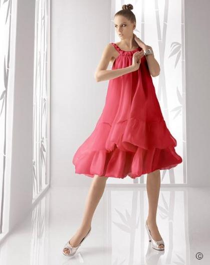 2011'in Nar çiçeği Kiloş Etekli Kısa Nişanlık - Abiye Modelleri