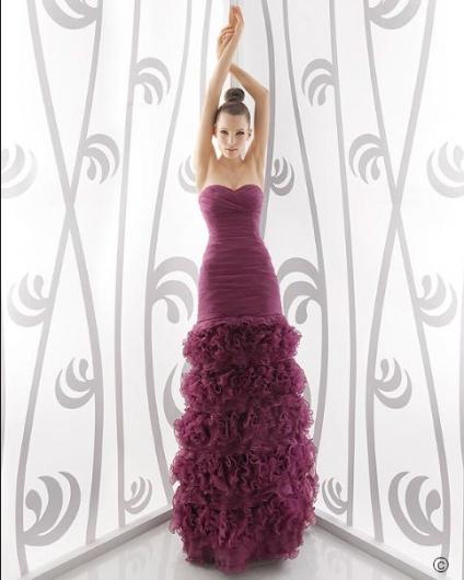 2011 Rosa Clara M Taka Tüy Görünümlü Abiye - Nişanlık Modelleri