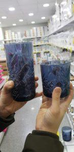 @sorella_ile paşabahçe kesme lacivert cam bardak modelleri fiyatı satışı