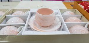 Turuncu mermer desen tombiş kahve fincanı modeli