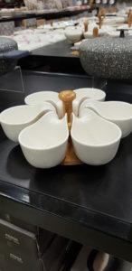 Büyük boy birinci sınıf 6 lı porselen çerezlik ve kahvaltılık modelleri