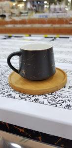 Siyah mermer desen kahve fincanı modelleri