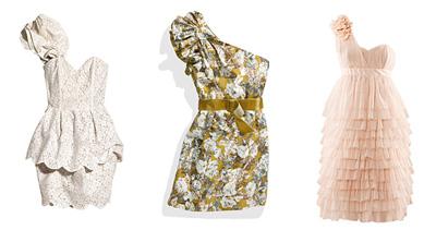 2011 Mezuniyet Giysileri Modası - 2011 Tek omuz mini abiye modelleri