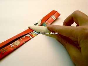 Kağıttan kolye yapılışı