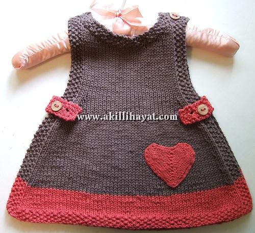 Kalpli Tığ İşi Bebek Elbisesi Yapılışı