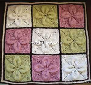 kolay yaprak modeli renkli battaniye nasıl yapılır ?
