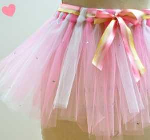 Kız Çocukları İçin Kolay Balerin Eteği Hazırlanışı - Düğümlerle şifon kız çocuk eteği yapımı