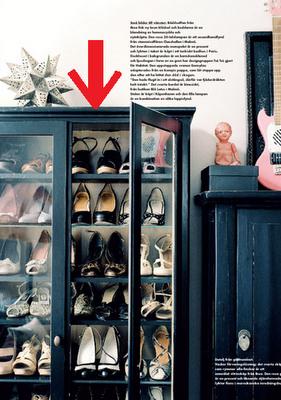 İlginç Dekorasyon Fikirleri ve Geri Dönüşüm Mobilyalar - Camlı büfeden ayakkabılık yapımı
