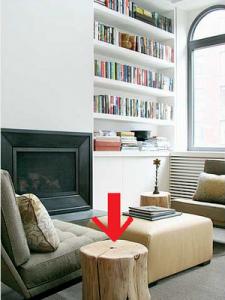 İlginç Dekorasyon Fikirleri ve Geri Dönüşüm Mobilyalar - Ağaç kütüğünden sehpa veya tabure yapımı
