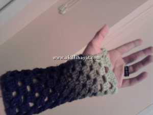 MaSaLKıZ nohut örgü boyunluk modeli ve tığ işi parmaksız eldiven modeli