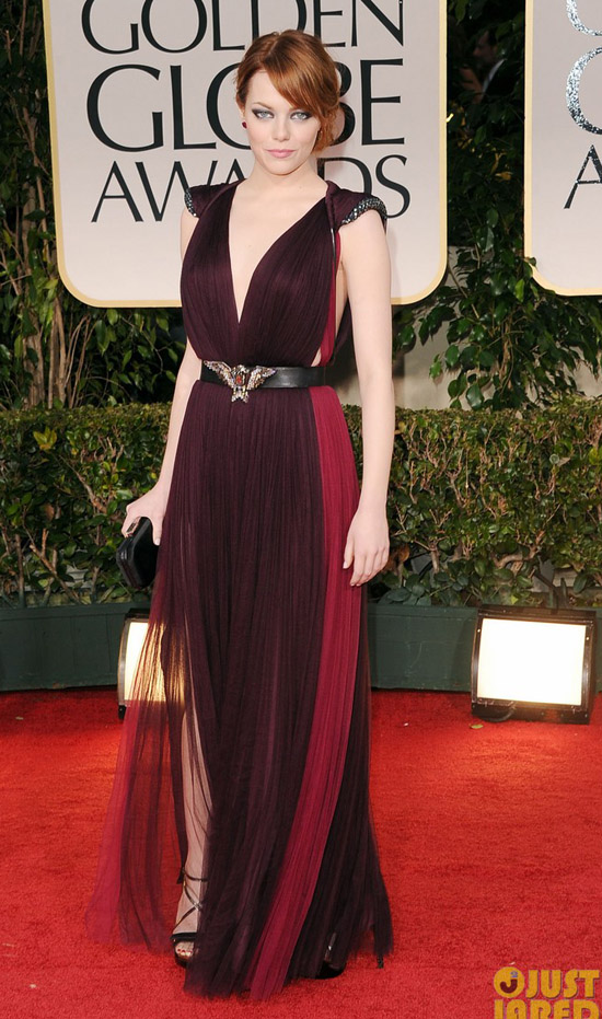 Golden Globes 2012 töreni - Emma Stone
