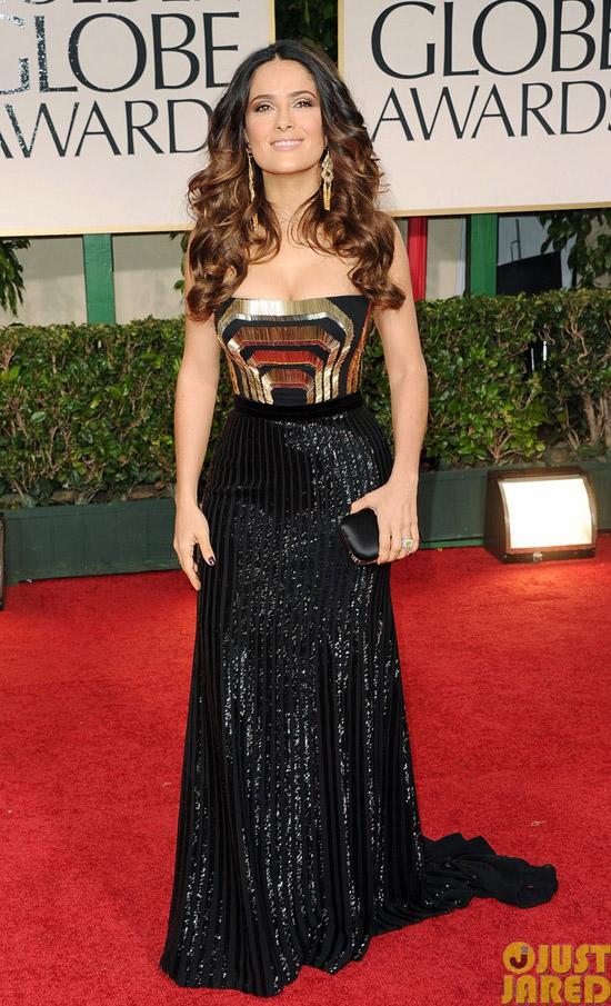 Golden Globes 2012 töreni - Salma Hayek