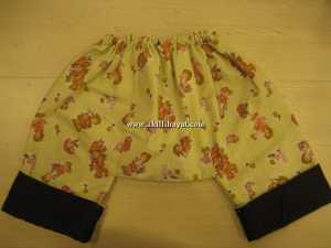 Bez kullanan bebekler için pantolon