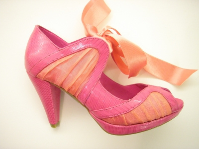 NR 39 İlkbahar - Yaz Koleksiyonu - Yumurta topuk kavun içi rengi ayakkabı modeli -- 249 TL