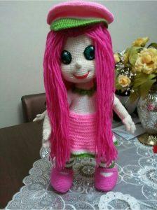 Amigurumi örgü oyuncak modelleri çilek kız yapımı anlatımlı