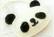 Panda figürlü örgü çanta modeli yapılışı anlatımlı