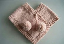 Kolay işlenen örgü bebek pançosu modelleri anlatımlı