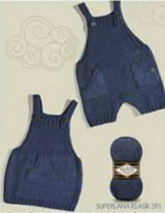 Bebekler için orta cepli askılı bebek elbisesi modeli yapılışı anlatımlı