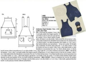 Arkası iki cepli örgü bebek elbisesi modeli yapılışı anlatımlı