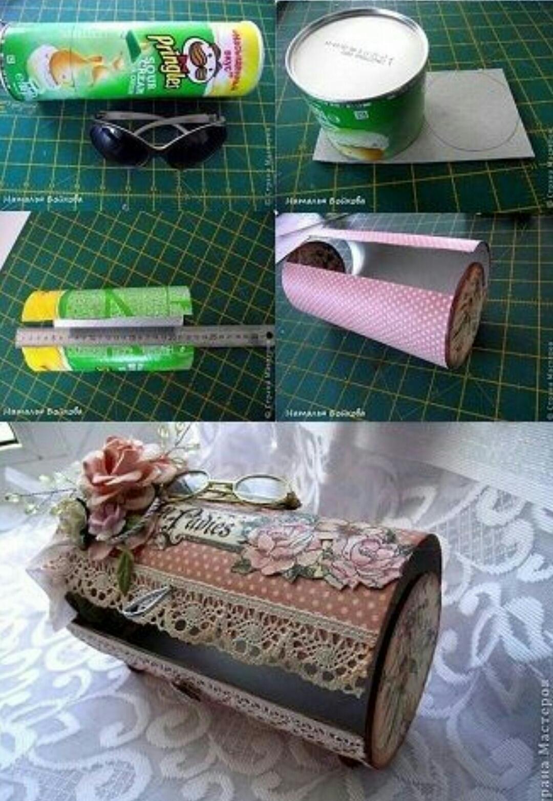Sende yap cips pringles kutusu ile dekoratif kutu for Latest best out of waste