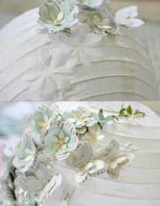 Kağıttan kelebek süslerle japon feneri süsleme yapılışı anlatımlı