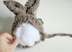 Çift şişle örülmüş Pratik oyuncak örgü tavşan modeli yapılışı anlatımlı