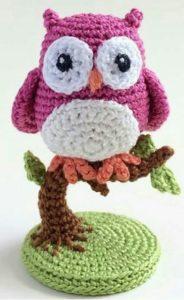 Amigurımi özel gün hediyelikleri örgü minyatür baykuş modeli yapılışı anlatımlı