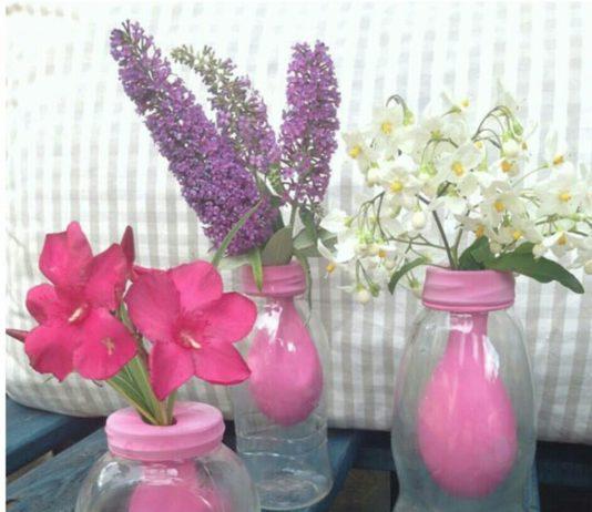 İlginç fikirler cam vazo süsleme