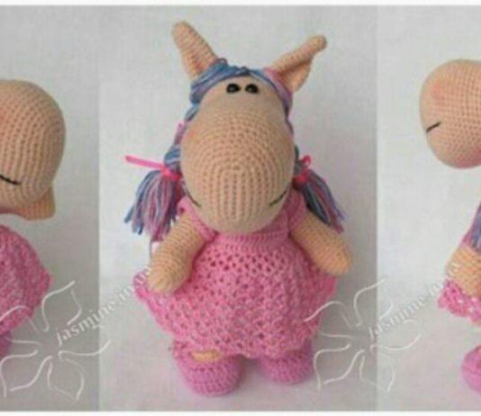 Amigurumi örgü oyuncak şişman at modeli yapılışı anlatımlı