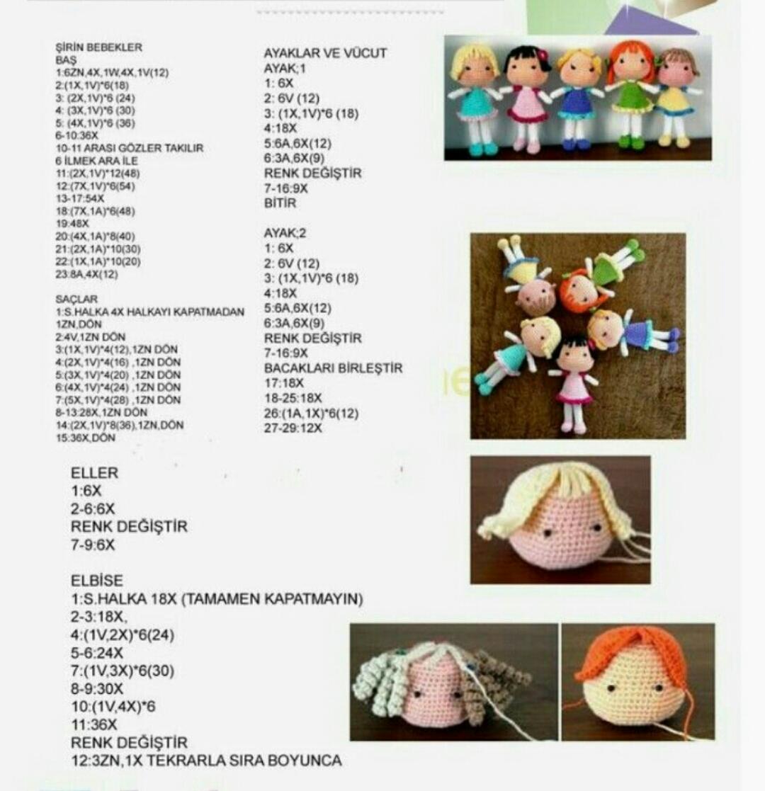 Amigurumi Kolay Bebek Yapımı, tığ işi bebek yapılışı - YouTube | 1117x1080