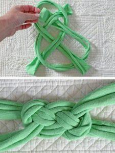 Eskimiş tişörtlerne pemye düğümlü bandana yapılışı anlatımlı