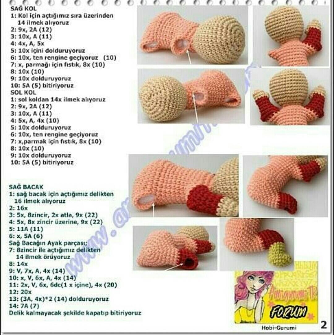 Hobinomi Amigurumi Karnaval Bebek Pembe - El Örgüsü Organik Fiyatı | 1084x1080