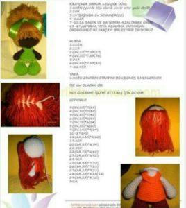 Amigurumi örgü oyuncak zuza bebek yapılışı anlatımlı