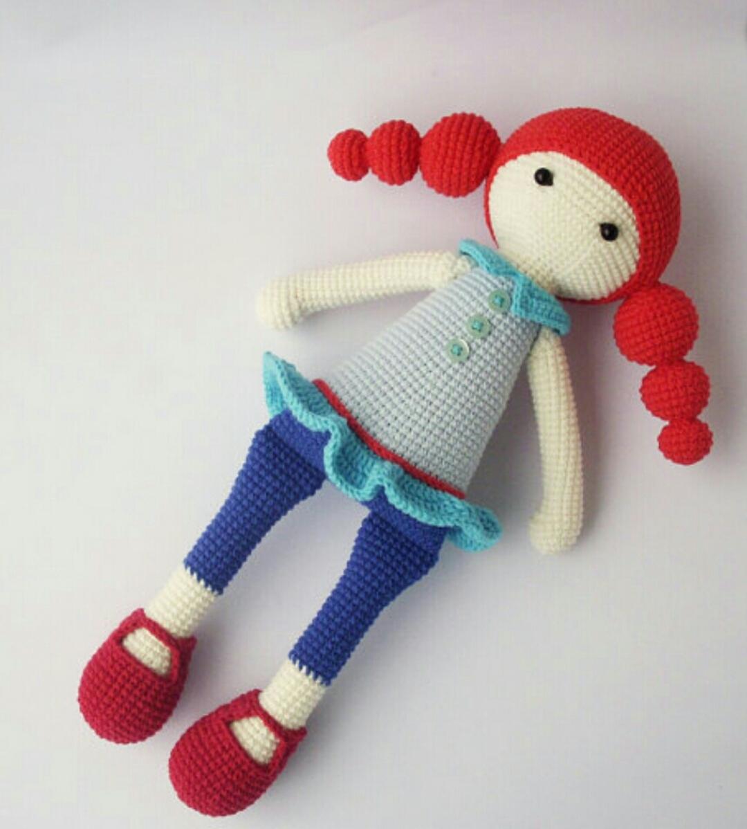 Amigurumi Mini Hanım Kız Bebek Yapımı - Örgü Modelleri | 1198x1080