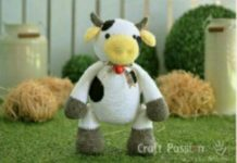Amigurumi örgü oyuncak şişman inek modeli yapılışı anlatımlı