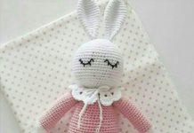 Amigurumi örgü oyuncak uykucu tavşan modeli yapılışı anlatımlı