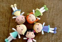 Amigurumi minyatür örgü bebek modelleri ve yapılışları anlatımlı