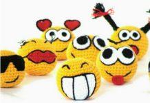 Amigurumi örgü oyuncak smile topların yapılışı anlatımlı