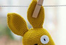 İki renkli amigurumi örgü oyuncak tavşan modeli yapılışı anlatımlı