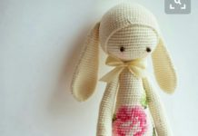 Amigurumi uzun kulaklı büyük boy lala tavşan yapılışı anlatımlı
