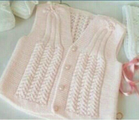 Bebekle için pamuk şekeri örgü bebek yelekleri modelleri anlatımlı